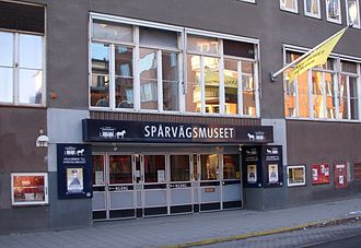 Spårvägsmuseet - The Spårvägsmuseet and Leksaksmuseet entrance in January 2009