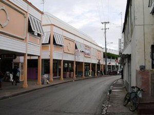 Speightstown - Causal view of Queen's Street, Speightstown