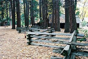 Split-rail fence - Simple split-rail fence.
