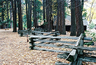 Split-rail fence - Simple split-rail fence.