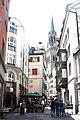 St.Gallen, the Kugelgasse, view to the church St. Laurenzen.jpg