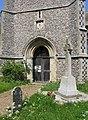 St Andrew and All Saints, Wicklewood, Norfolk - West doorway - geograph.org.uk - 805033.jpg
