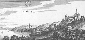 Sankt Goar - St. Goar – excerpt from Matthäus Merian's Topographia Hassiae (1655)