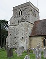 St Mary the Virgin's Church, Frensham Street, Frensham (June 2015) (Tower) (2).JPG