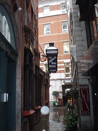 Cornhill, London - Image: St Michael's Alley, London EC3