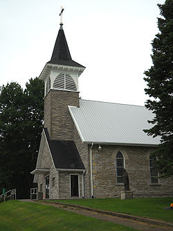 St. Patrick's Catholic Church of Monti was built in 1870 and operated until 2005.