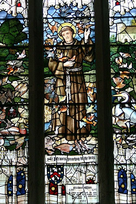 The stained glass window commemorating White in Selborne church Stained Glass Church Window UK.jpg