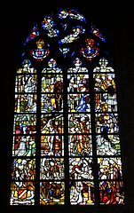 Stained glass window in the church - La Cambre Abbey - Brussels, Belgium - DSC07971.jpg
