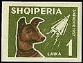 Stamp of Albania - 1962 - Colnect 341574 - Space Dog Laika Canis lupus familiaris Sputnik 2.jpeg