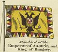 Standard of the Emperor of Austria, and King of Hungary. Johnson's new chart of national emblems, 1868.jpg