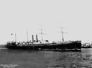SS Oceana (1887) - Image: State Lib Qld 1 133369 Arcadia (ship)