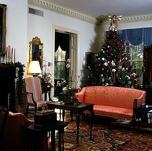 Florida Governor's Mansion - State reception room in the Mansion at Christmas time.