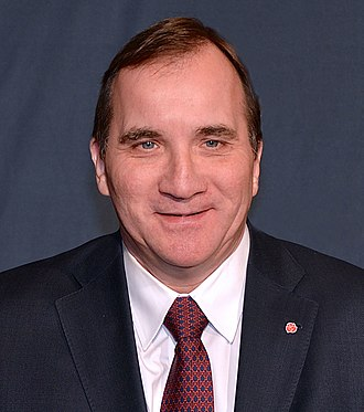 2014 Swedish general election - Image: Stefan Löfven edited and cropped