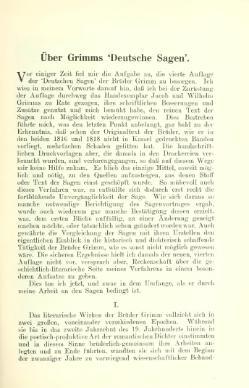 """Über Grimms """"Deutsche Sagen"""" – Wikisource"""