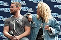 Stephen Amell and Emily Bett Rickards HVFFLondon2017Amell-ALS-9 (34469919254).jpg
