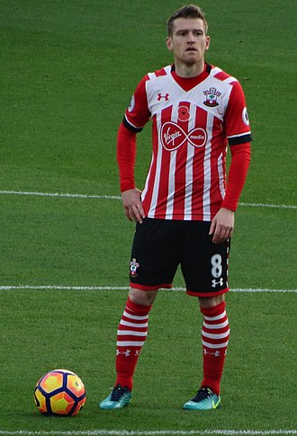 Steven Davis - Davis playing for Southampton in the Premier League in October 2016.