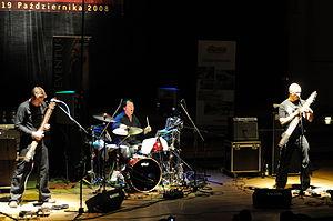 Stick Men (prog band) - Stick Men in 2008: Michael Bernier, Pat Mastelotto, Tony Levin