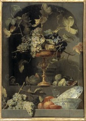 Still Life with Fruit Bowl in a Niche