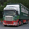 Stobart Scania truck in Tebay West services, Cumbria, 20 May 2006.jpg