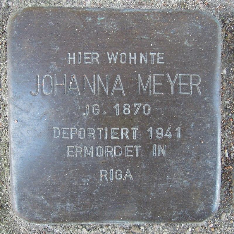 Stolperstein für Johanna Meyer