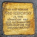 Stolperstein Arno Bobrowsky Esch-Alzette, 49 rue Léon Weirich 01.jpg