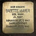 Stolperstein Delbrückstraße 19 (Grune) Babette Mayer.jpg