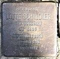 Stolperstein Martin-Luther-Str 127 (Schöb) Lotte Schindler.jpg