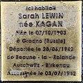 Stolperstein Sarah Lewin 88 rue Dalayrac Fontenay Bois 4.jpg