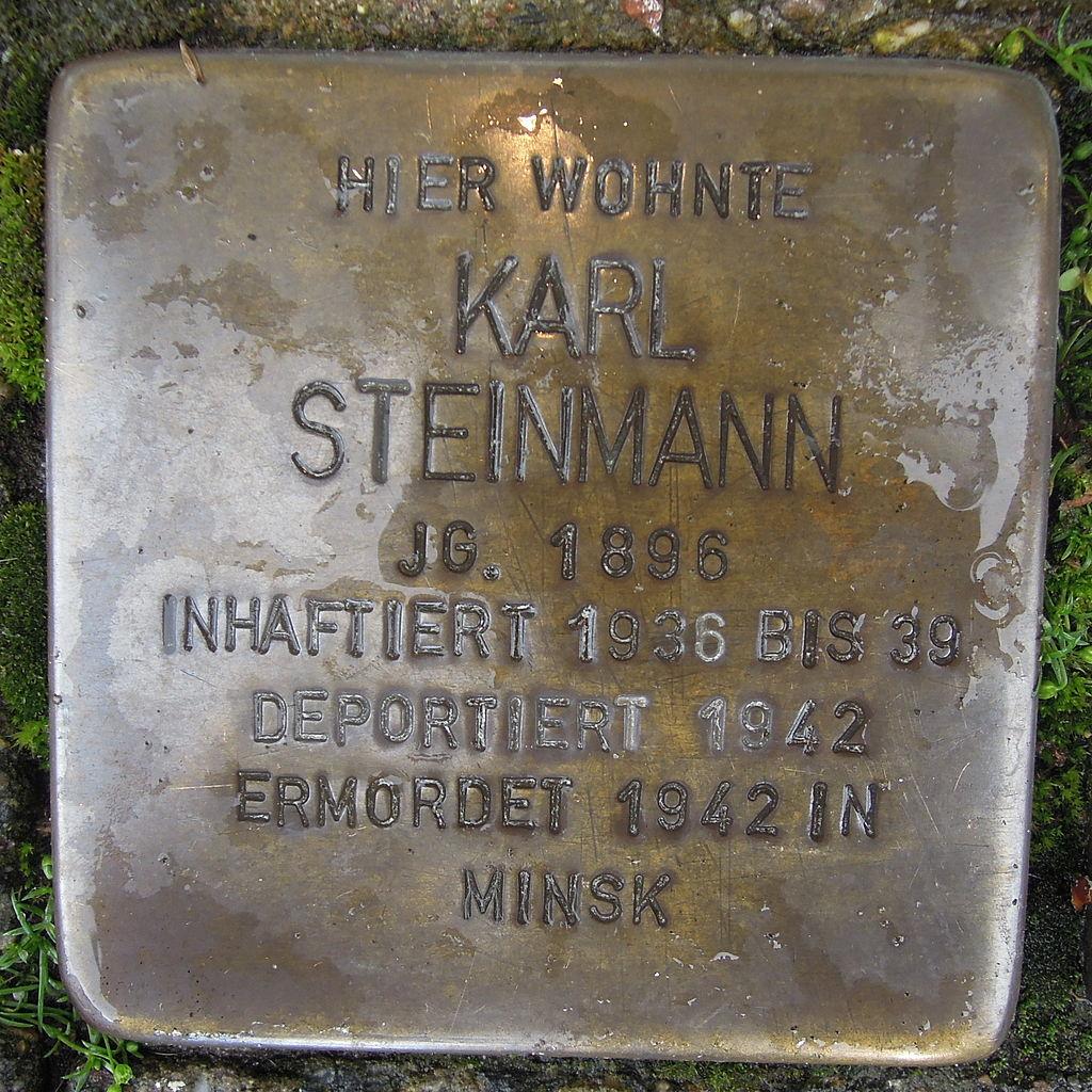 Stolperstein Steinfurt Markt 1 Karl Steinmann.jpg