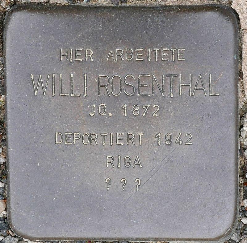 Stolperstein für Willi Rosenthal