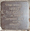 Stolperstein Winckelmannstraße 25 (Margot Rothschild) in Hamburg-Nienstedten.JPG