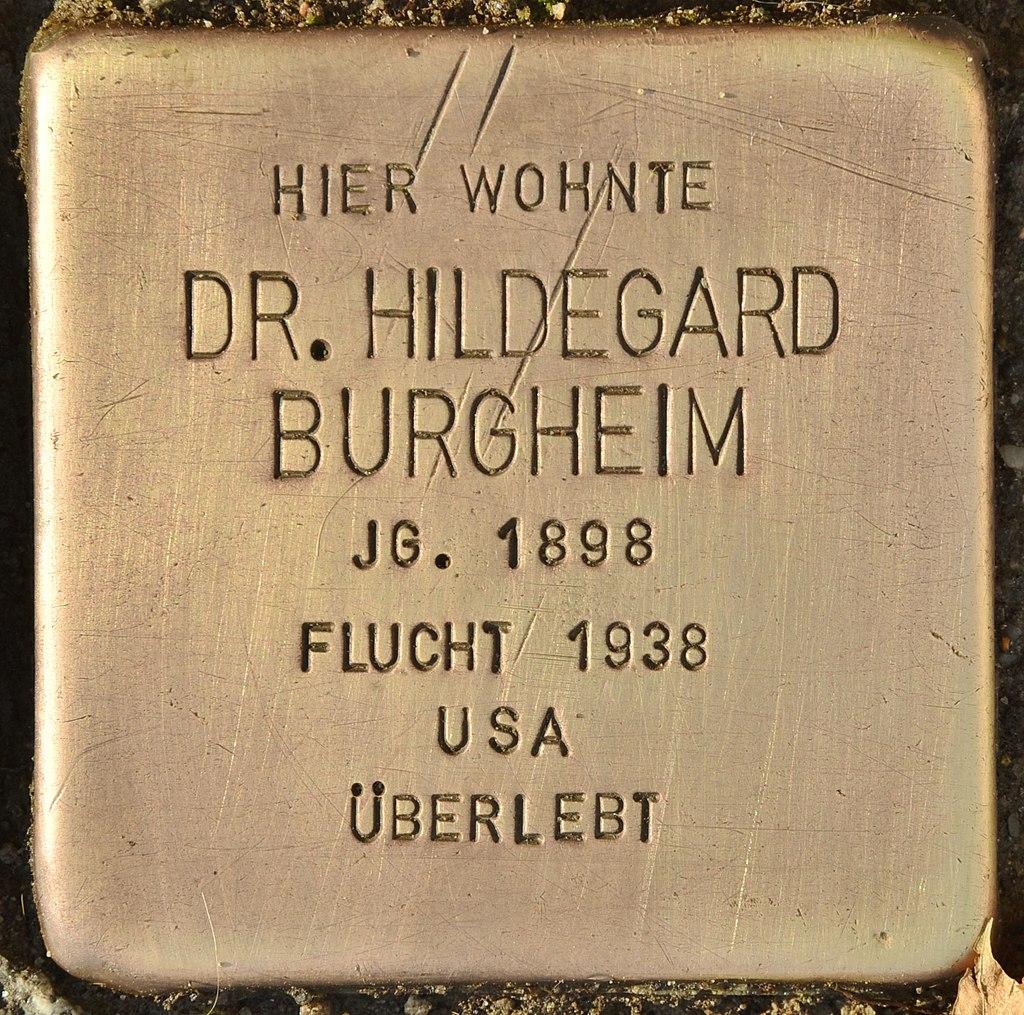 Stolperstein für Dr. Hildegard Burgheim (Finsterwalde).jpg