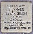 Stolperstein für Izsak Simon Eichmann (Budapest).jpg
