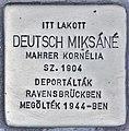 Stolperstein für Miksane Deutsch (Budapest).jpg