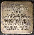 Stumbling block for Leo Schneider (Lorenzstraße 6)