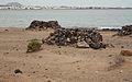 Stone shelters on beach (3231785421).jpg