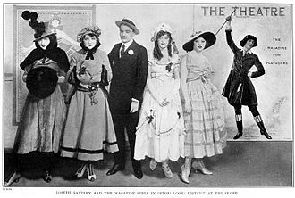 "Stop! Look! Listen! - Joseph Santley with the Magazine Girls in ""Stop! Look! Listen!""  Theatre Magazine, 1916"