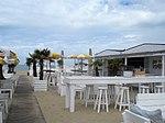 Strandbar aan de Belgische kust