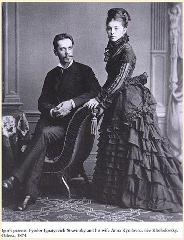 Родители Игоря Стравинского, Фёдор и Анна, Одесса, 1874