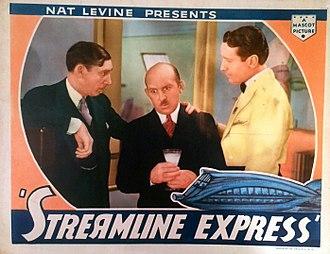 Vince Barnett - Lobby card for Streamline Express (1935) with Vince Barnett at center