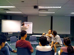 BarCamp - Students taking part in a BarCamp at Ngee Ann Polytechnic, Singapore, in February 2009