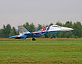 "Su-27UB Aerobatic team ""Russian Knights"" (4257748932).jpg"