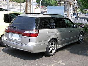 Subaru Legacy (third generation) - 1998–2004 Subaru Legacy Touring Wagon (Japan) with clear rear turn signal lenses and amber bulbs