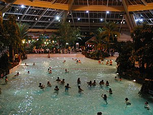 Center Parcs - The Subtropical Swimming Paradise in Elveden Forest, Suffolk, UK.