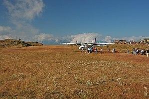 Taplejung Airport - Image: Suketar airstrip