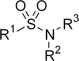 Sulfonamide (medicine) - Sulfonamide functional group