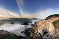 Sunset at Land's End in San Francisco with Cirrus clouds.jpg
