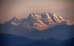 Saidu Sharif - A view of the 18,600 foot tall Mankial Peak from Saidu Sharif
