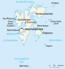 Mapo de Svalbardo