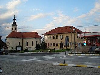 Međimurje County - Main street in Sveti Martin na Muri